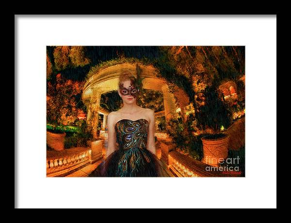 Framed Print featuring the photograph Black Swan Stroll by Blake Richards