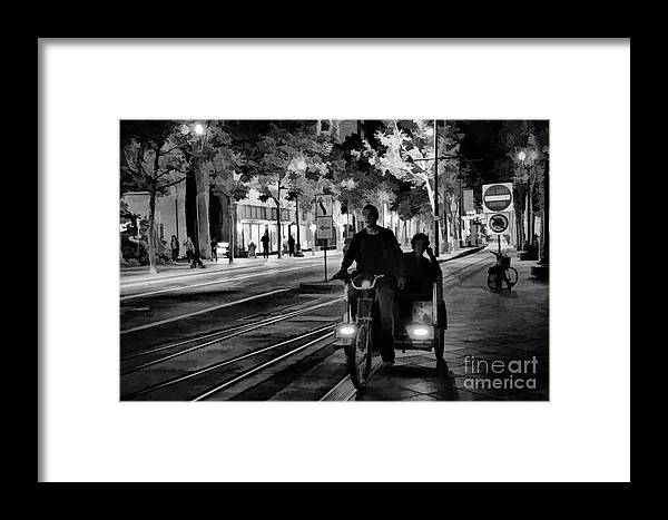 Architecture Framed Print featuring the photograph Black White Downtown Sj Trans by Chuck Kuhn