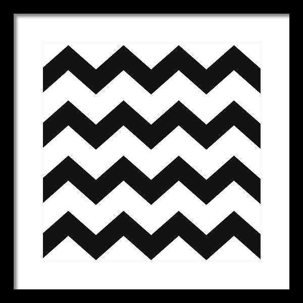 Black White Geometric Pattern by Christina Rollo