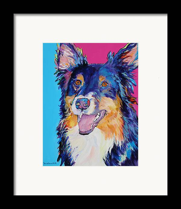 Dog Framed Print featuring the painting Blackjack by Pat Saunders-White
