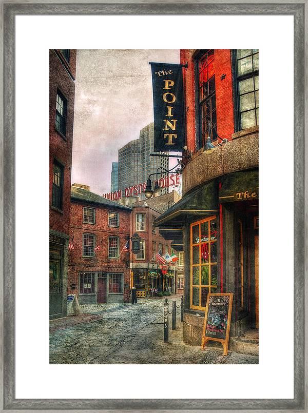 Blackstone Square - Union Oyster House - Boston Framed Print by Joann Vitali