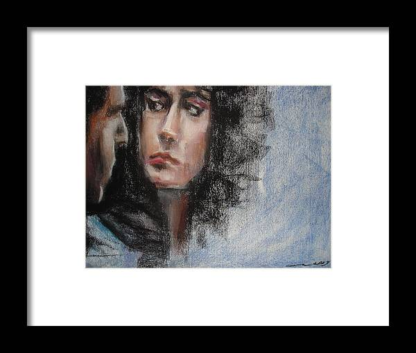 Love Framed Print featuring the drawing Blade by Ana Picolini