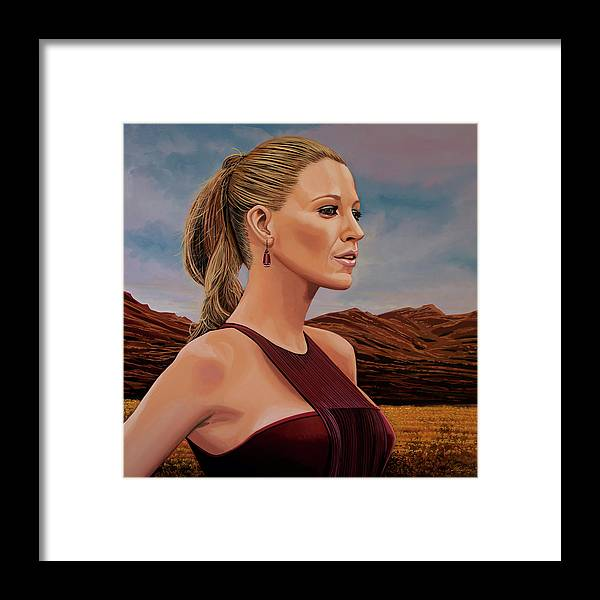 Blake Lively Framed Print featuring the painting Blake Lively Painting by Paul Meijering