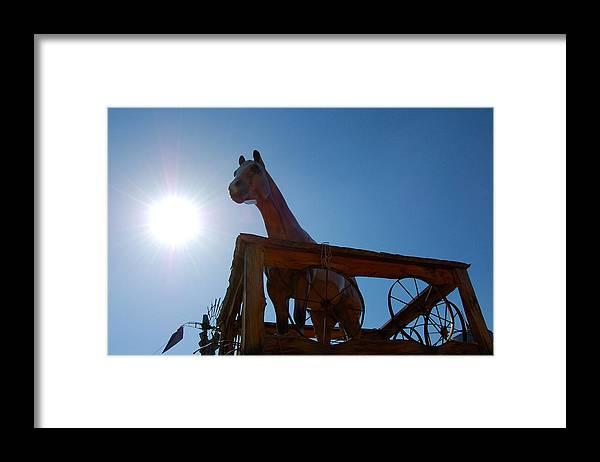 Arizona Framed Print featuring the photograph Blaze by Heather S Huston