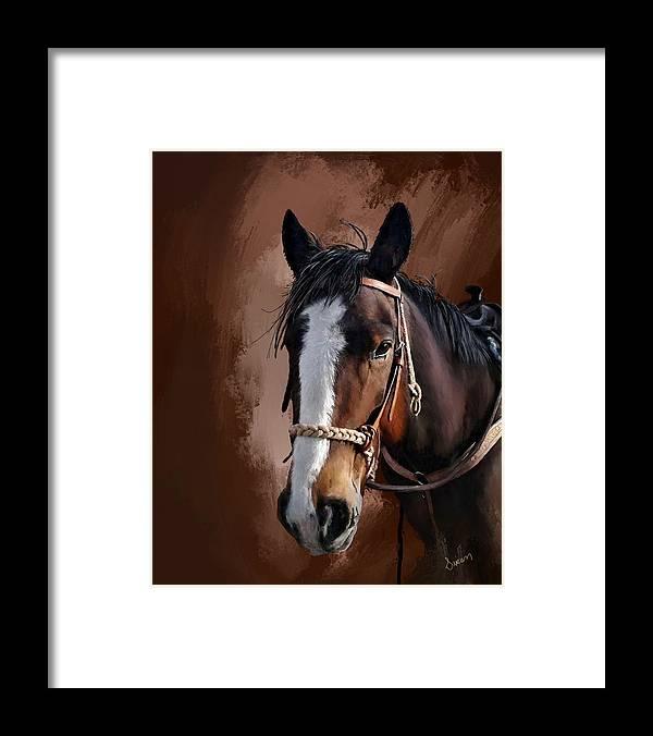Corel Painter 18 Framed Print featuring the digital art Blaze by Susan Kinney