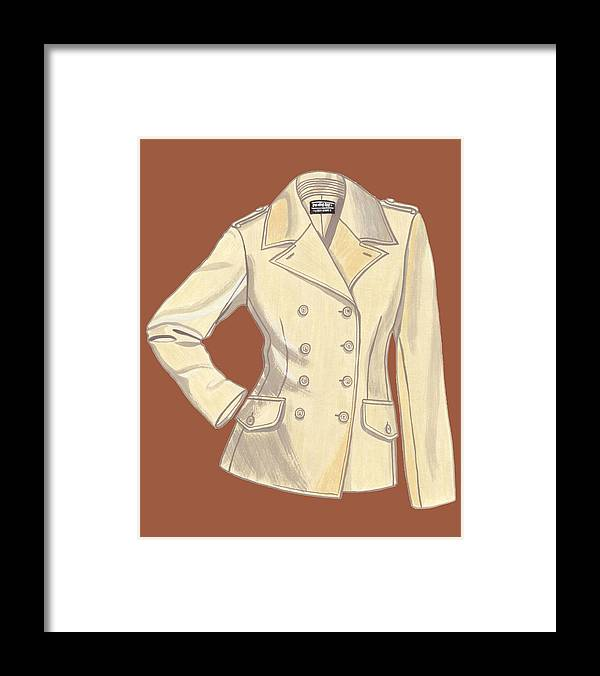 Fashion Design Framed Print featuring the painting Blazer Front by Vlasta Smola