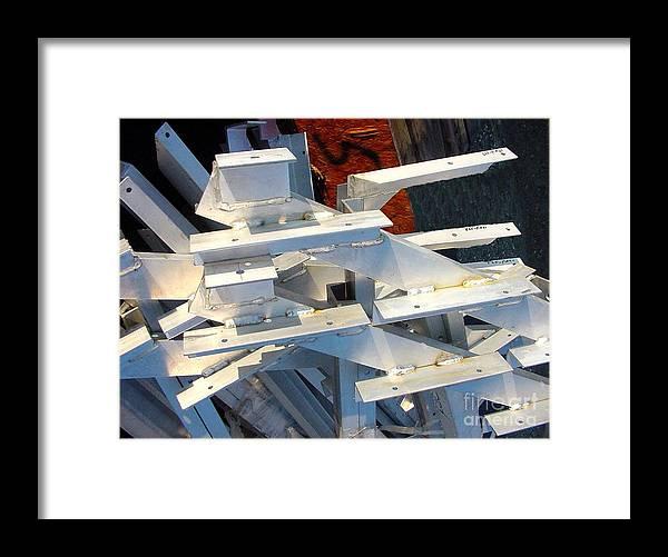 Digital Framed Print featuring the photograph Bleacher Unassembled by Ron Bissett
