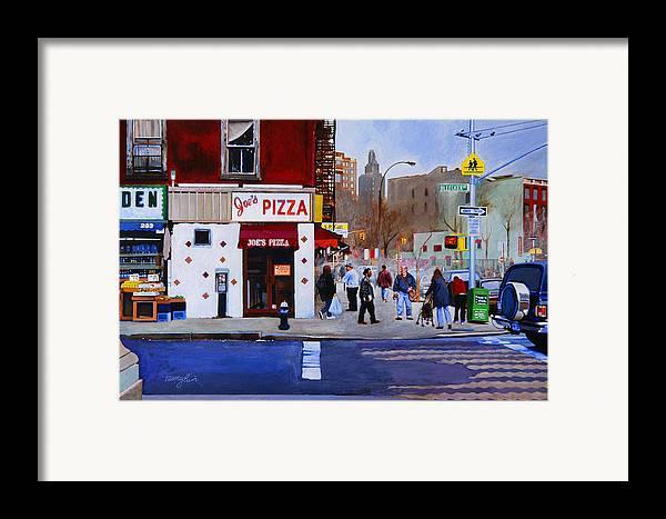 Bleecker Street Framed Print featuring the painting Bleecker Street by John Tartaglione