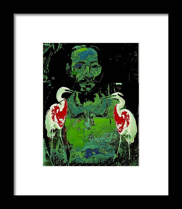 Birds Framed Print featuring the painting Bleeding Birds by Noredin Morgan