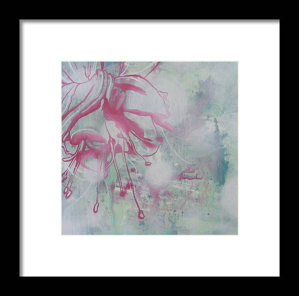 Bleeding Heart Framed Print featuring the painting Bleeding Heart by Monica James