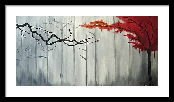 Tree Framed Print featuring the painting Bleeding Willow by Joe Campbell