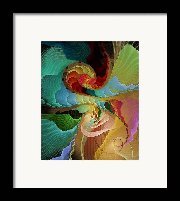Fractal Framed Print featuring the digital art Blending Into Our Souls by Gayle Odsather