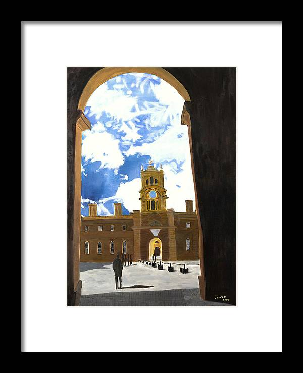 Churchill Framed Print featuring the painting Blenheim Palace England by Avi Lehrer