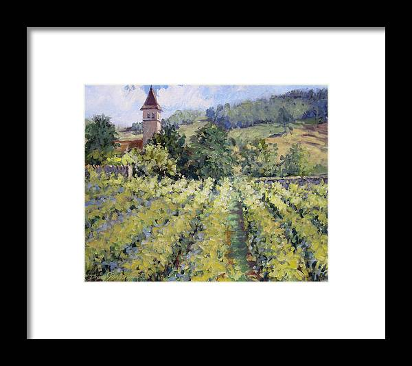 France Framed Print featuring the painting Bless The Harvest by L Diane Johnson
