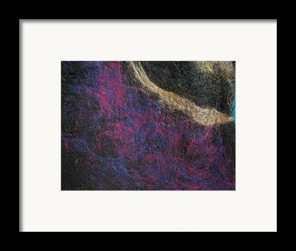Felt Framed Print featuring the tapestry - textile Blessed Boundlessness by Kseniya Nelasova