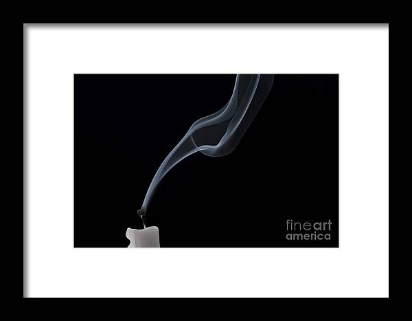 Candlle Framed Print featuring the photograph Blew Out The Candles by Michal Boubin