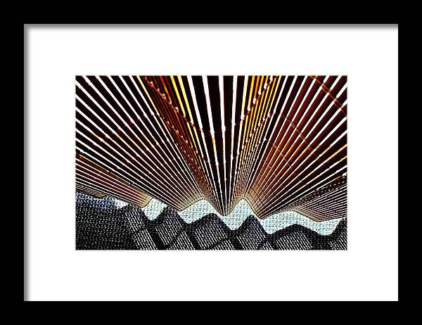 Blind Framed Print featuring the photograph Blind Shadows Abstract I I I by Kirsten Giving