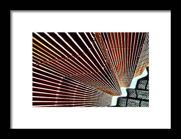 Blind Framed Print featuring the photograph Blind Shadows Abstract I I by Kirsten Giving