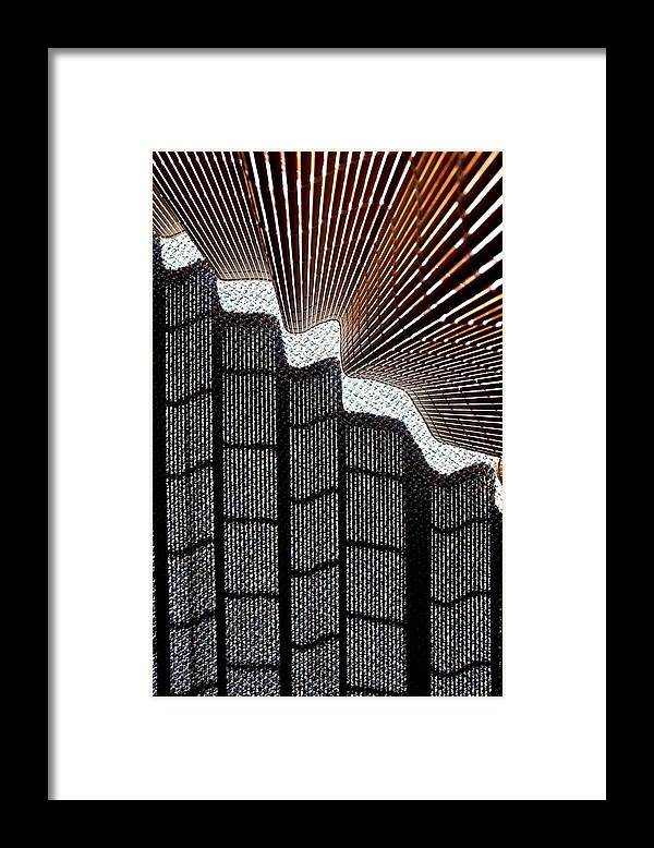 Blind Framed Print featuring the photograph Blind Shadows Abstract I by Kirsten Giving