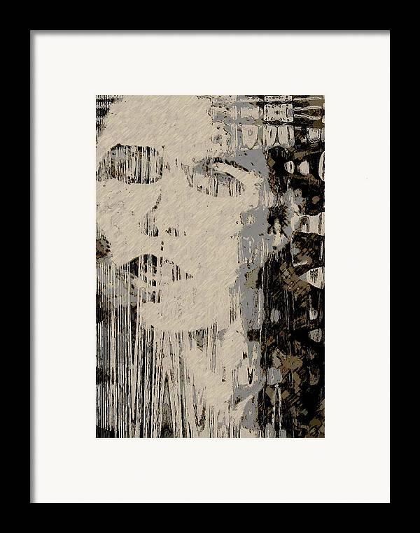 Framed Print featuring the digital art Blinded by LeeAnn Alexander