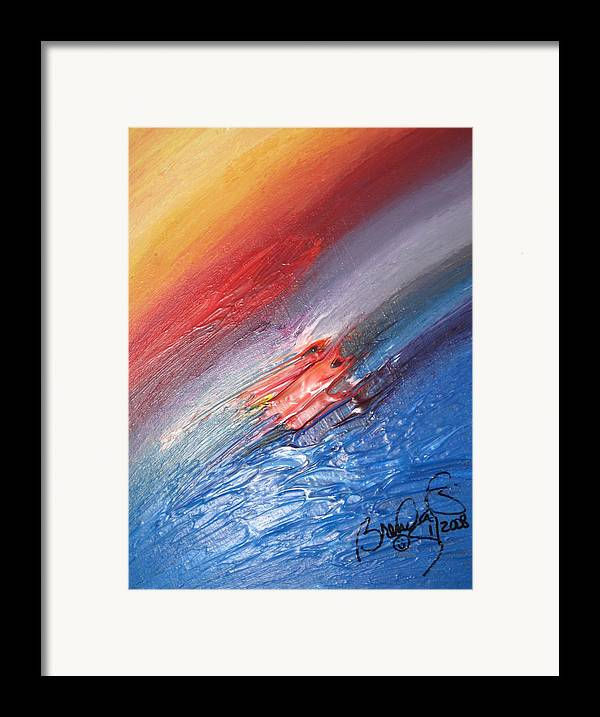 Abstract Framed Print featuring the painting Bliss - D by Brenda Basham Dothage