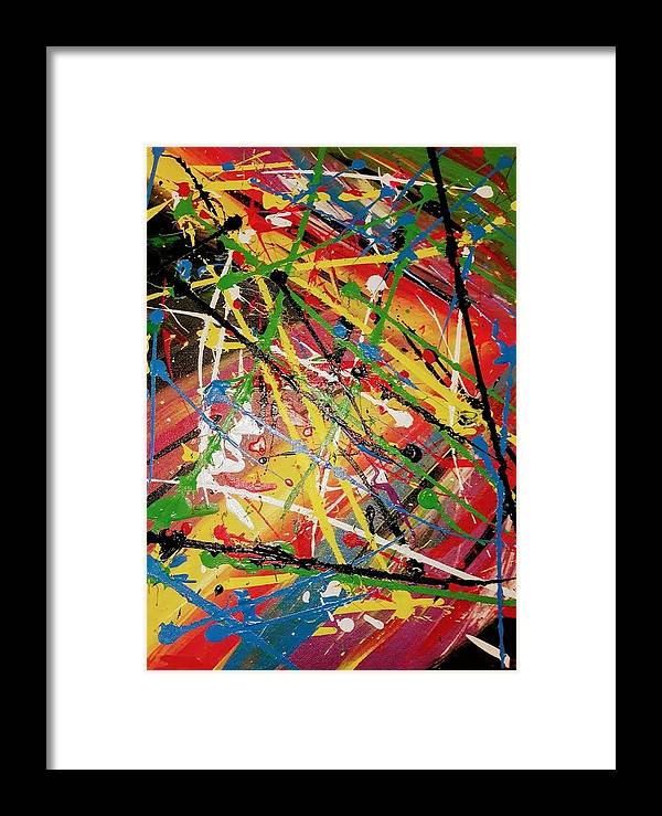 Happy; Bliss; Joy Framed Print featuring the painting Bliss by The Creator