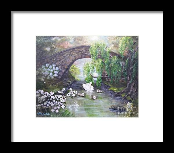 Impressionism Framed Print featuring the painting Blissful Morning by Valerie Gordon