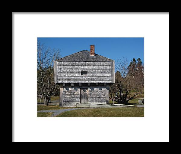 Block Framed Print featuring the photograph Block House by Melissa Parks