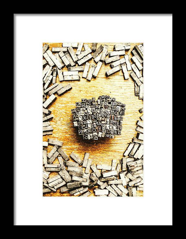 Old Framed Print featuring the photograph Block Of Communication by Jorgo Photography - Wall Art Gallery