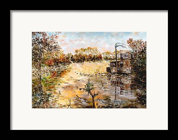 Savannah Framed Print featuring the painting Blockade Runner by Richard Barham