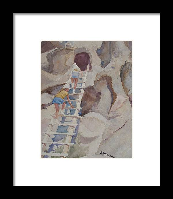 Ladder Framed Print featuring the sculpture Blond Indians by Jenny Armitage