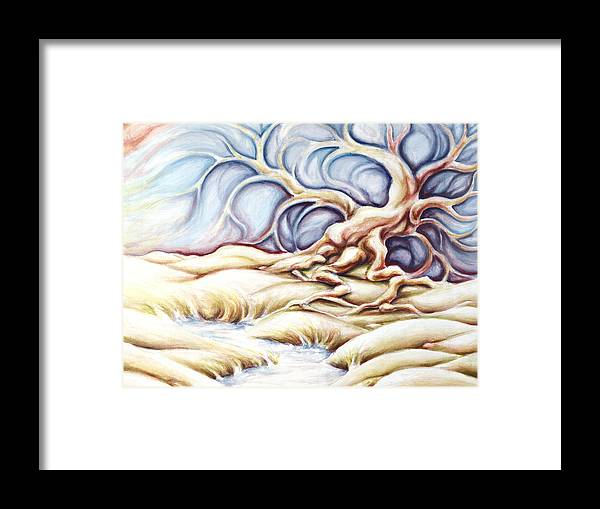 Acrylic Painting Framed Print featuring the painting Blonde And Blue by Jennifer McDuffie