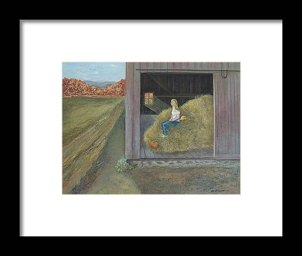 Blonde Framed Print featuring the painting Blonde by Robert Harrington