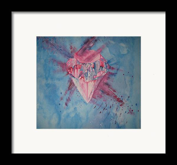 Diamond Framed Print featuring the painting Blood Diamond by Theodora Dimitrijevic