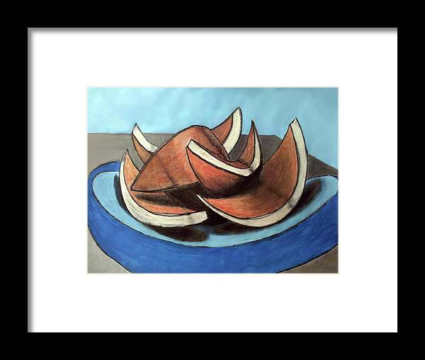 Still Life Framed Print featuring the painting Blood Or Cara Cara by Matthew OHair
