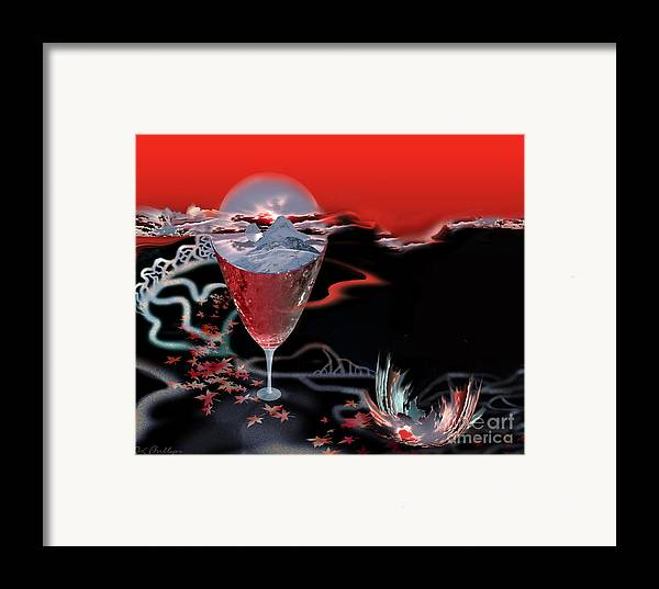 Blood Framed Print featuring the digital art Blood Red From Pure White by Jennifer Kathleen Phillips