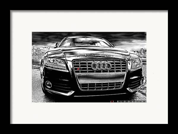 Audi Framed Print featuring the photograph Bloodline by Jonathan Ellis Keys