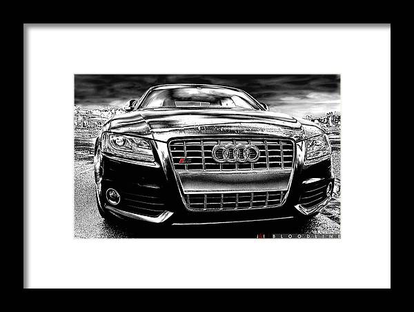Audi Framed Print featuring the photograph Bloodline by Jonathan Ellis Keys