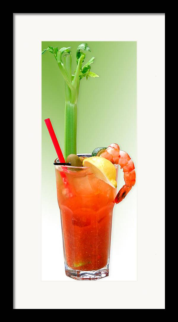 Drinks Framed Print featuring the photograph Bloody Mary Hand-crafted by Christine Till