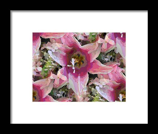 Framed Print featuring the digital art Blooming Beauty by Tim Allen