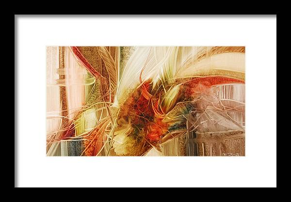 Blooming Framed Print featuring the painting Blooming In The Dawn by Fatima Stamato