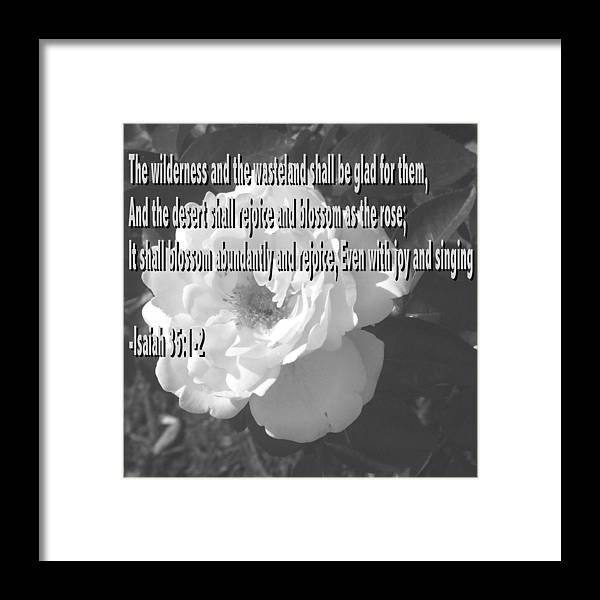 Christian Framed Print featuring the photograph Blossom as the Rose by Pharris Art