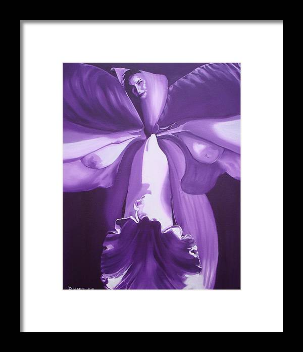 Erotic Framed Print featuring the painting Blossom by Davinia Hart