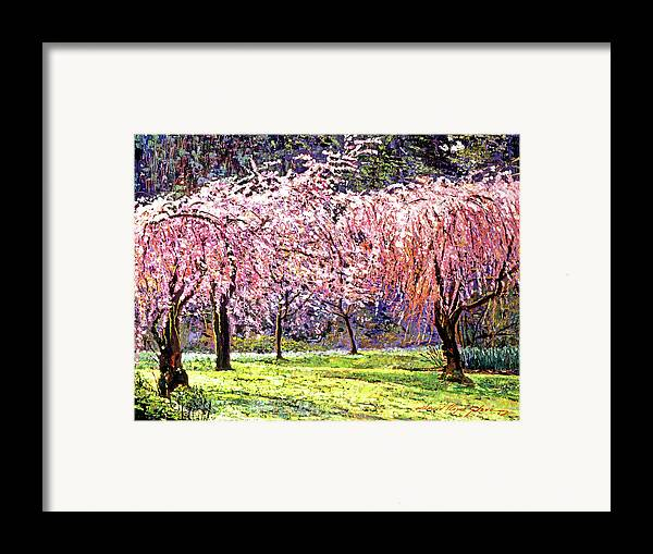 Cherry Blossoms Framed Print featuring the painting Blossom Fantasy by David Lloyd Glover