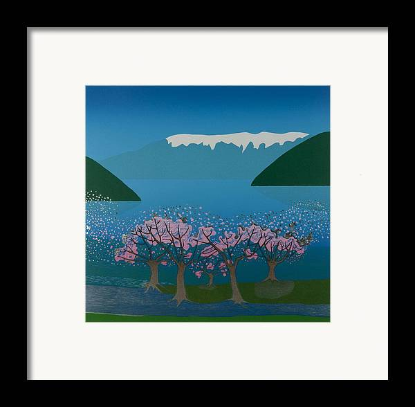 Landscape Framed Print featuring the mixed media Blossom In The Hardanger Fjord by Jarle Rosseland