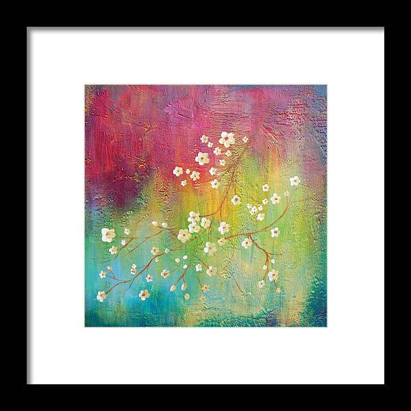 Bright Framed Print featuring the painting Blossom by Joya Paul