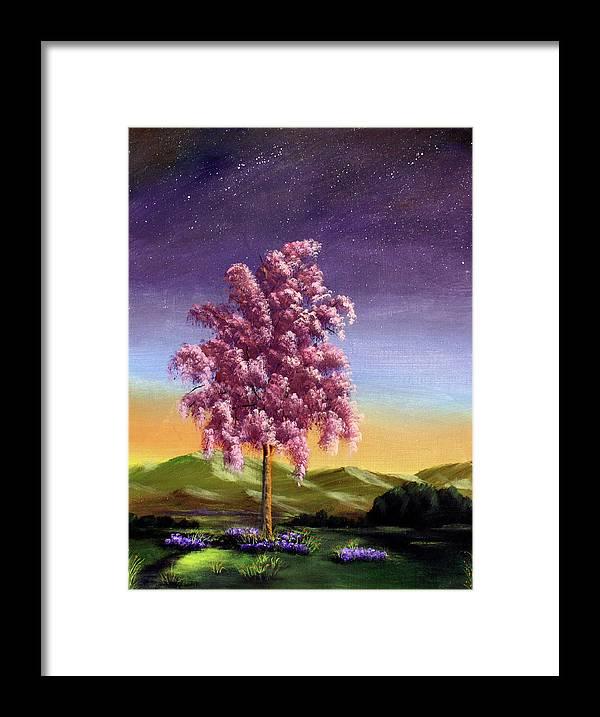 Dawn Blair Framed Print featuring the painting Blossoming by Dawn Blair