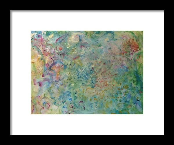 Abstract Framed Print featuring the painting Blossoming by Holly Sedgwick