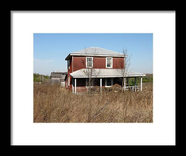 Abandoned Farmhouses Framed Print featuring the photograph Blow Out The Candles by Richard Stanford