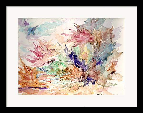 Fall Framed Print featuring the painting Blowin by Roger Parnow